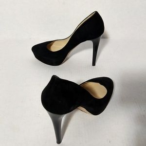 Jimmy Choo Blk Cosmic Pumps Shoes Suede Leather 39